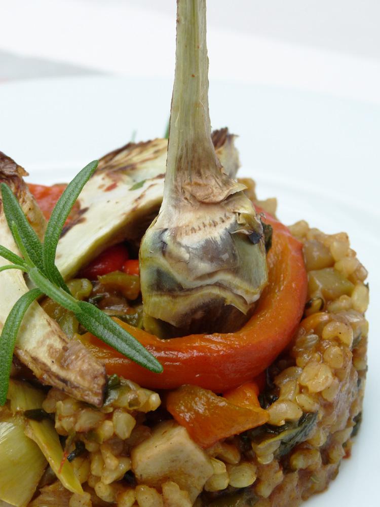Paella de verdures i arros integral