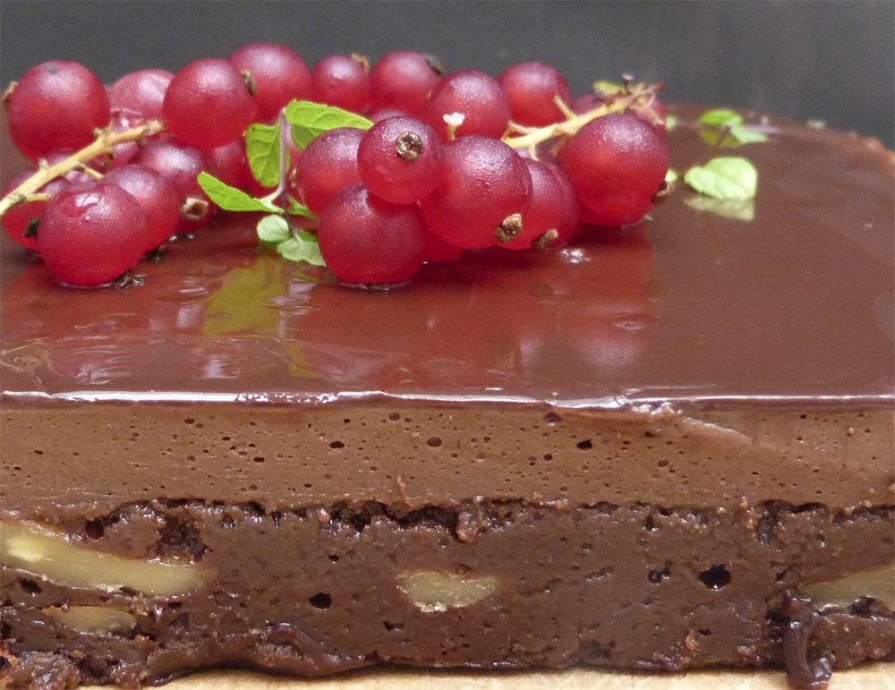 brownie 3 textures de xocolata