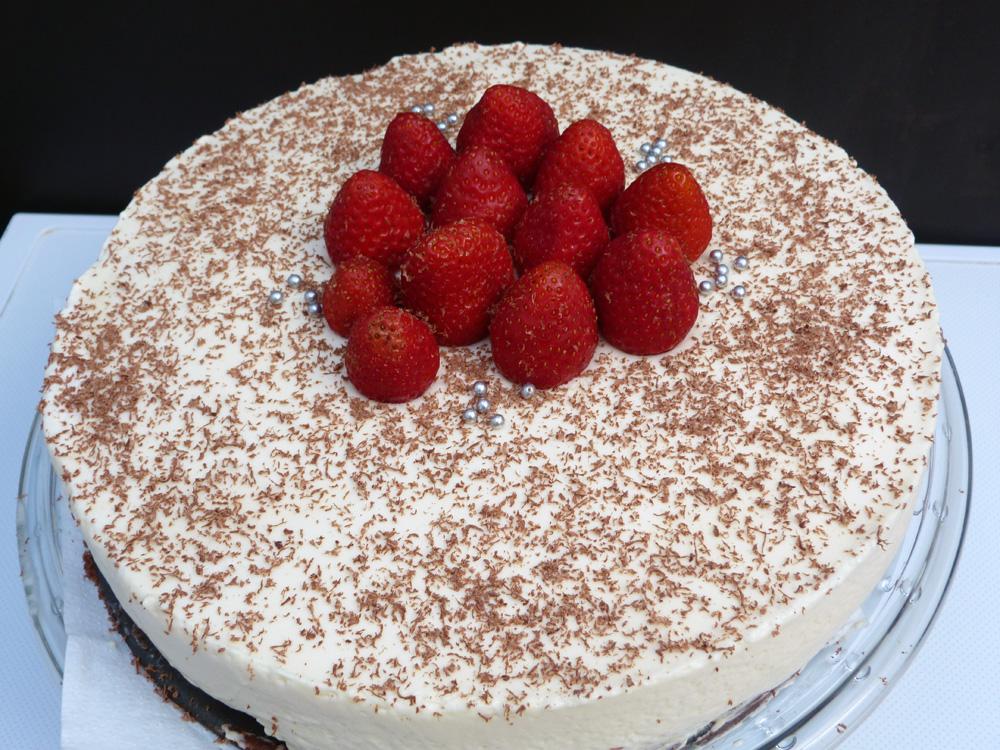 Pastís mousse de xocolata blanca